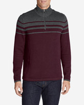Eddie Bauer Men's Signature Cotton Variegated 1/4-Zip Mock Sweater