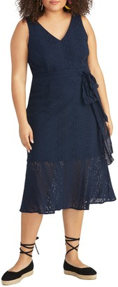 Rachel Roy Corded Lace Midi Dress (Plus Size)