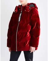 Ivy Park Oversized Velvet Puffer Jacket