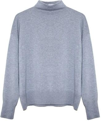 Theo + George Isla Organic Cotton Cashmere Husky Grey Sweater