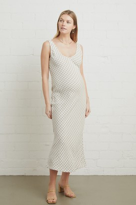 Maternity Linen Bias Dress