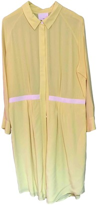 Band Of Outsiders Yellow Silk Dress for Women