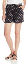 Vince Camuto Women's Heritage Medallion Drawstring Shorts