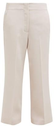 Raey Elasticated-back Wool-blend Trousers - Light Pink