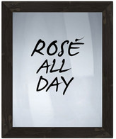 "PTM Images Rose All Day Framed Silkscreen Glass Wall Art - 21"" x 17"""
