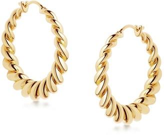 Missoma Tidal 18kt Gold Vermeil Hoop Earrings