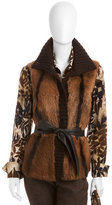 Lafayette 148 New York Fur and Leather Vest