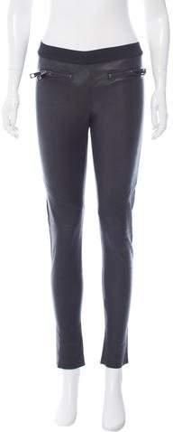 Alexis Mid-Rise Leather Leggings