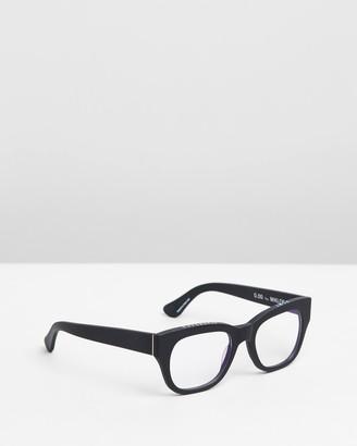 Caddis Black Blue Light Lenses - Miklos Optical Glasses - Blue Light Lenses - Size +0.00 at The Iconic