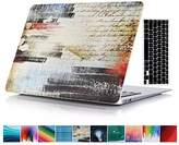 "MacBook Pro Retina 15-inch Case, Soundmae 2in1 Colourful Creative Inspiration Pattern Hard Cases Cover + Keyboard Cover For Macbook Pro 15.4"" Retina[A1398] - Denim"