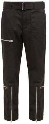 Helmut Lang Flight Cotton-blend Twill Trousers - Black