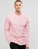 Asos Long Sleeve T-Shirt With Typo Print