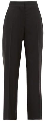 BLAZÉ MILANO Bumby Wool-blend Kick-flare Trousers - Navy