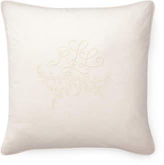 Lauren Ralph Lauren Ralph Lauren Claudia Monogram 20 Square Decorative Throw Pillow Bedding