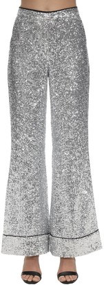 In The Mood For Love Sequined Flared Pajama Pants