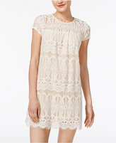 Speechless Juniors' Lace Shift Dress