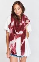 MUMU Island Maroon Tie Dye Scarf