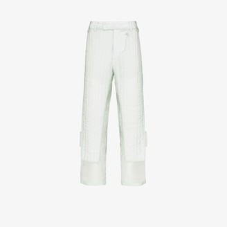 Craig Green Quilted sheer panel trousers