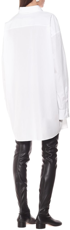 Thumbnail for your product : Maison Margiela Cotton shirt dress