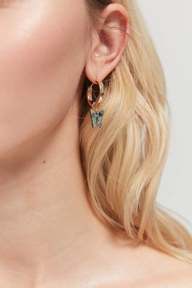 Urban Outfitters Butterfly Mini Charm Hoop Earring