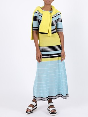 Lanvin Striped Multicolored Maxi Dress