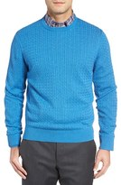 David Donahue Men's Cable Knit Sweater
