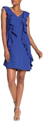 trina Trina Turk Sweetheart Ruffled Shift Dress