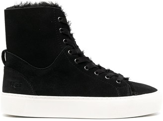 UGG Shearling-Lined High-Top Sneakers