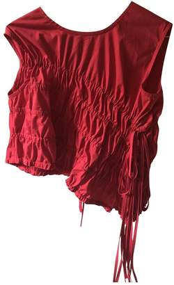 REJINA PYO Red Cotton Tops