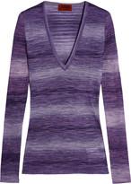 Missoni Striped stretch-knit top