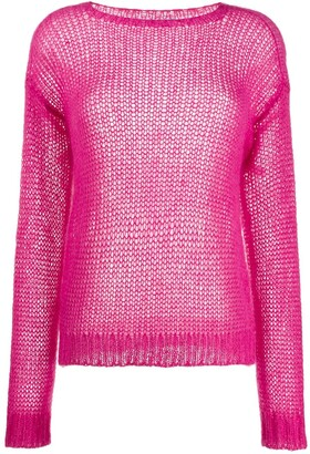 Prada ribbed crew neck knitted top