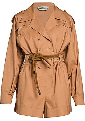 Fendi Cotton Trench Romper