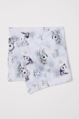 H&M Patterned cotton scarf