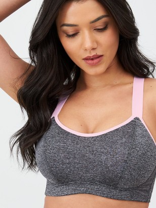 Pour Moi? Pour Moi Energy Underwired Lightly Padded Convertible Sports Bra - Grey/Pink