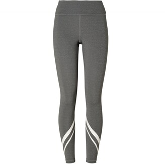 Tory Burch High-Rise Compression Melange Side-Pocket Chevron Leggings
