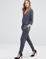 Vila Wrap Front Tailored Jumpsuit