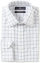 Hart Schaffner Marx Non-Iron Fitted Classic-Fit Spread-Collar Checked Dress Shirt