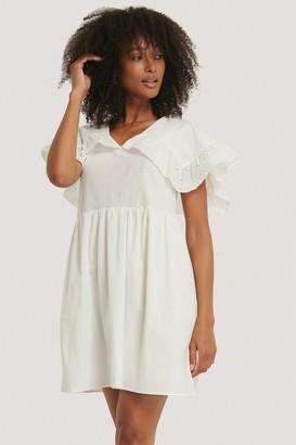 Trendyol Lace Collar Detail Mini Dress