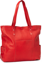 Le Donne Red Leather Large Pocket Tote