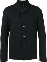 Attachment lapel detail blazer - men - Cotton/Linen/Flax/Polyurethane - II