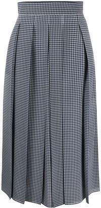 Fendi Pleated Gingham Skirt