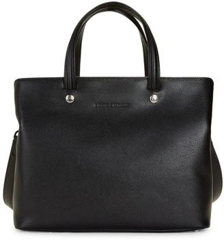 Longchamp Debossed Logo Leather Satchel