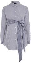 Topshop Women's Tie Front Stripe Maternity Shirt