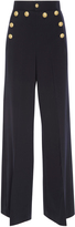 RED Valentino Crest Button Wide Legged Pant