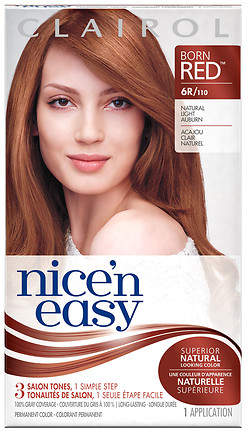 Clairol Nice 'n Easy with Color Blend Permanent Haircolor Natural Light Auburn 6R/110