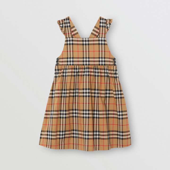 abb3bfaef22 Childrens Ruffle Detail Vintage Check Cotton Dress