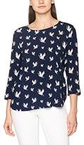 Tom Tailor Women's Printed Tunic with Zip At Back Blouse