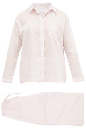 Pour Les Femmes - Crochet-insert Cotton Pyjamas - Womens - Pink
