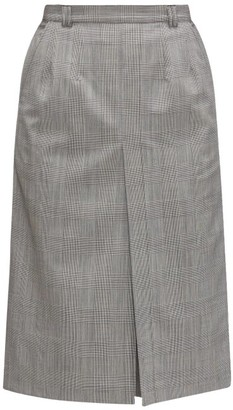 Vetements Prince Of Wales-check Virgin-wool Skort - Grey