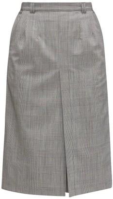 Vetements Prince Of Wales-check Virgin-wool Skort - Womens - Grey